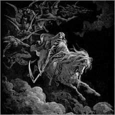 Gallery print  Death on a pale horse - Gustave Doré