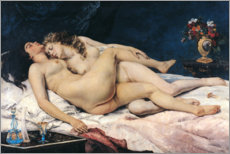 Obraz na drewnie  The sleep - Gustave Courbet