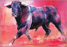 Gallery print  Trotting bull - Mark Adlington