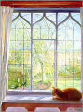 Gallery print  Cat in window in spring - Timothy Easton