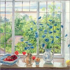 Gallery print  Cornflowers and Kitchen Garden - Timothy Easton