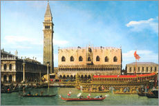 Gallery print  The Bucintoro at the Molo on Ascension Day - Antonio Canaletto