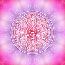Gallery print  Flower of life - unconditional love - Dolphins DreamDesign