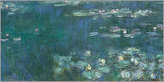 Naklejka na ścianę  Water Lilies, Green Reflections 2 - Claude Monet
