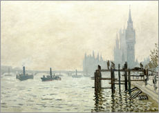 Gallery print  Tama przy Westminister - Claude Monet