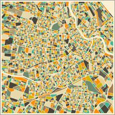 Gallery print  Vienna Map - Jazzberry Blue