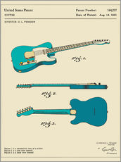 Gallery print  Guitar Patent (1951) - Jazzberry Blue