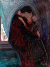 Obraz na płótnie  The Kiss - Edvard Munch