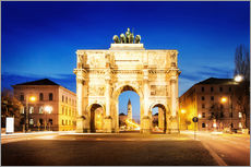 Gallery print  Victory Arch in Munich at night