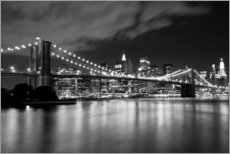 Gallery print  Brooklyn Bridge - Night Scene