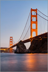 Gallery print  ?San Francisco Golden Gate Bridge at sunset