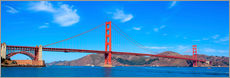 Gallery print  panoramic view of Golden Gate Bridge
