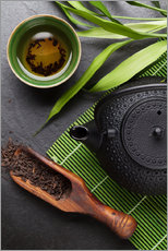 Gallery print  Asian tea cup and teapot