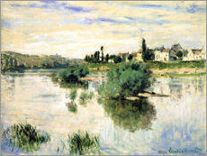 Obraz na płótnie  The Seine near Lavacourt - Claude Monet