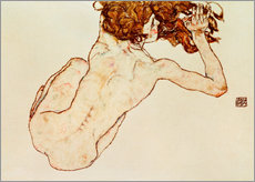 Gallery print  Crouching nude, back view - Egon Schiele