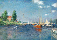Gallery print  Red boats at Argenteuil - Claude Monet