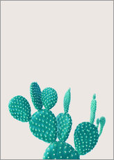 Gallery print  Turquoise cactus - Finlay and Noa