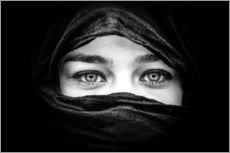 Gallery print  Woman with black scarf