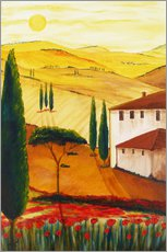 Gallery print  Tuscan idyll 3 (brighter) - Christine Huwer