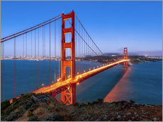 Naklejka na ścianę  Night shot of the Golden Gate Bridge in San Francisco California, USA - Jan Christopher Becke