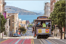 Gallery print  Cable car on a hill in the streets of San Francisco, California, USA - Matteo Colombo