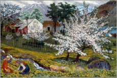 Gallery print  Flowering apple tree, Str?msbo farm - Nikolai Astrup
