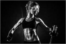 Gallery print  Sportswoman with barbell