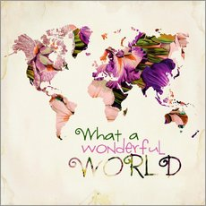 Naklejka na ścianę  What a wonderful world (Map) - Mandy Reinmuth