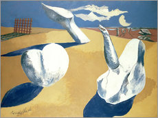 Gallery print  Stranded figures into the sunset - Paul Nash