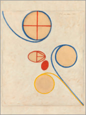 Obraz na szkle akrylowym  The Seven-Pointed Star, No. 2 - Hilma af Klint