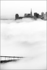 Gallery print  San Francisco disappeared in the fog
