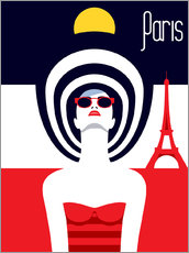 Gallery print  Stylish travel - Paris - Sasha Lend