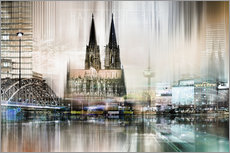 Gallery print  Abstract skyline in Cologne, Germany - Städtecollagen