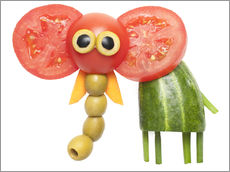 Gallery print  Vegetable animals - elephant
