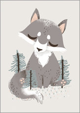 Gallery print  Animal friends - The wolf - Kanzilue