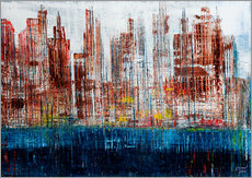 Gallery print  New York Skyline, abstract - Gerhard Kraus