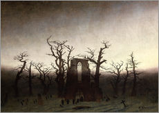 Gallery print  The Abbey in the Oakwood - Caspar David Friedrich