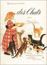 Gallery print  Des Chats (French) - Théophile-Alexandre Steinlen