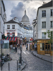 Gallery print  Streets of Montmartre and Sacre Coeur - Jan Christopher Becke