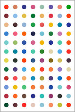 Gallery print  Damien Tribute - Colourful polkadots - THE USUAL DESIGNERS