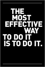 Naklejka na ścianę  The most effective way to do it, is to do it. - THE USUAL DESIGNERS