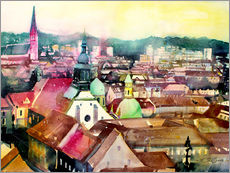 Gallery print  Graz, view to the cathedral - Johann Pickl