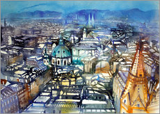 Gallery print  Vienna View from St. Stephen's Cathedral - Johann Pickl