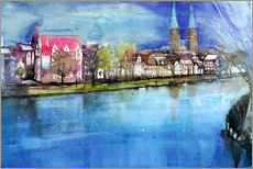 Gallery print  Lübeck, painter angle with cathedral - Johann Pickl