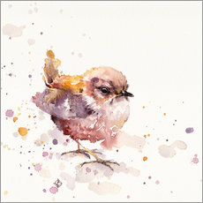 Gallery print  Fluffy Le Wren (cute bird) - Sillier Than Sally