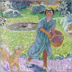 Gallery print  Girl Playing with a Dog - Pierre Bonnard