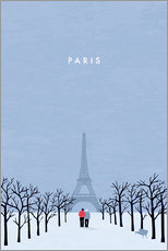 Gallery print  Illustration of Paris - Katinka Reinke