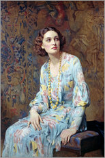 Naklejka na ścianę  Portrait of a Lady - Albert Henry Collings
