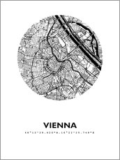 Naklejka na ścianę  City map of Vienna - 44spaces