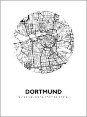 Naklejka na ścianę  City map of Dortmund - 44spaces